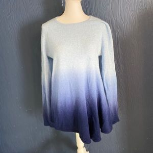Lord and Taylor Blue Cashmere Sweater Size L